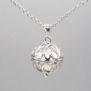 """Jewelry - NEW! Sterling Silver Pearl in Cage Necklace 16-18"""""""